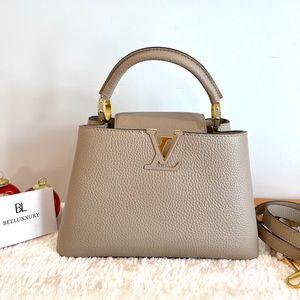 🤎 Louis Vuitton 🤎 Capucines BB Bag in Pebble GHW